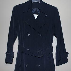 Jacqueline Ferrar Jackets & Coats - Long Black Belted Trench Coat Size 10